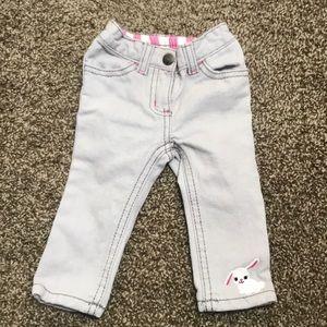 Crazy 8 6-12 mo bunny gray jeans